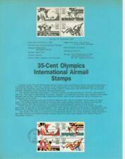#C109-12 35c Summer Olympics USPS # 8341 Souvenir Page