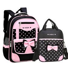 Cute Kids Girls Bow Backpack+Handbag Kids School Book Bags Rucksack Children Bag