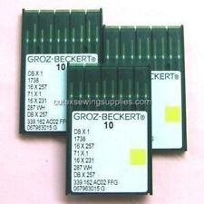 30 Groz Beckert Sewing Needles DBX1 16X231 16X257 1738