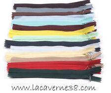 Fermeture éclair invisible 40 cm glissière couleurs au choix mercerie couture