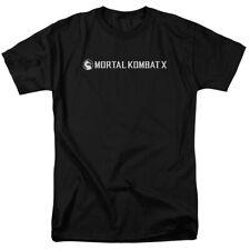 Mortal Kombat X Horizontal Game Logo Licensed Adult T Shirt