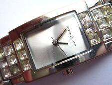 River Island Quartz Ladies Watch With Matching Silver Diamond Studed Bracelet