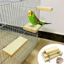 AU_ 1PC Wooden Hanging Bird Paw Grinding Stand Platform Cage Decor Pet Supplies