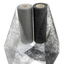 non-tissé BANDE , Chemin de Table 23cm - 20 mètres, noir/gris