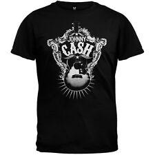 Johnny Cash - Guitar Target Soft Adult Mens T-Shirt