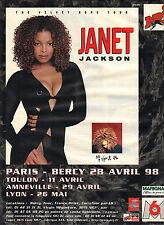 PUBLICITE  ADVERTISING 1998 NRJ  radio JANET JACKSON en concert à Paris Bercy