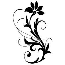 Sticker Fleur ORNEMENT 15x9cm à 48x30cm, Tailles et Coloris Divers (FLEUR040)