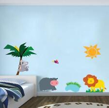 Safari Jungle Cartoon Animals Wall Sticker Decal Art Mural For Kids Nursery WC81
