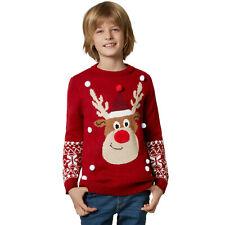 Kinder Weihnachtspullover Rudi Rentier Sweatshirt Nikolaus Weihnachten Unisex