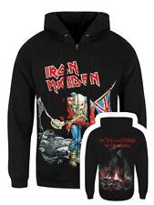 Iron Maiden Hoodie Scuffed Trooper Zipped Men's Black