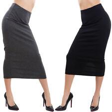 Falda mujer larga a media pierna ajustado talle alto división GI-2878