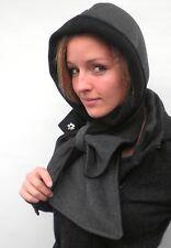 Damen Mütze Schalmütze Farbauswahl Kapuzenschal Schal Fleece Winter Kälteschutz