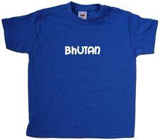 Bhutan text Kids T-Shirt