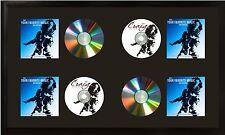"15x26 4 CD Wall Display Mat, Satin Black Wood Composite 1"" Wide Frame"