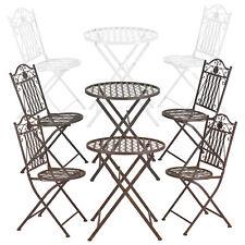 [casa.pro]® Bistro Set Tisch 2 Stühle Essgruppe Sitzgruppe Gartenmöbel Metall