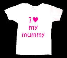 Personalizzata AMO MIA MAMMA Mamma Mamma Madre Baby T shirt Regalo Di Compleanno Boy Girl