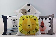 "Kids Animals Boy Cute Home Cotton CUSHION COVER Throw PILLOW CASE 18"" Gift"