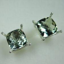 Natural Prasiolite Sage Green Amethist 925 silver /9ct 14k 18k Gold earrings