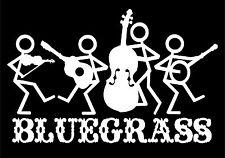 Bluegrass Band Decal Music Strings Stick People Vinyl Car Truck Sticker