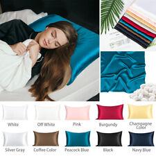 Silk Pillowcases Queen King Standard Sizes Care For Hair Pure Silk Pillow Case