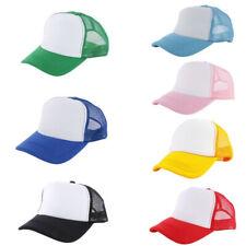 Adjustable Trucker Hat Mesh Back Baseball Cap Solid Plain Summer Snapback Hats