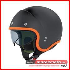 Casco Moto Jet Nolan N21 Durango 6 Nero Matto Arancio Custom Harley