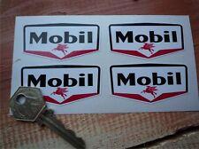set di 4 piccoli 60mm MOBIL stile Gas Stazione Adesivi