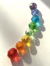400 Stk Regenbogen 2mm Facettierte Kristall Glasperlen |DIY Set Schmuck Basteln