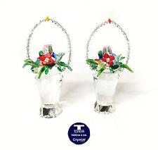 "[NEW] ""Tall Flowers Basket"" Austrian Crystal FIgurine"