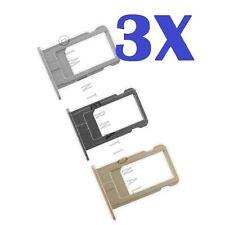 "3X iPhone 6 Plus 5.5"" Nano Sim Card Tray SIM Tray Slot Holder Replacement Parts"