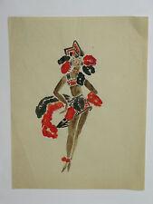 SULTAN & FAVORITE-PORTRAIT/ CARICATURE-LAVIS -ORIGINAL attribué à ZIG-1900/30'