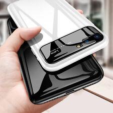 iPhone 7 8 X Luxus glatte Spiegel Case Hard PC + Glas Schutzhülle Cover