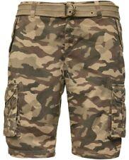 CIPO & BAXX Cargo Shorts CK109 camouflage beige
