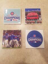 Chicago Cubs World Series 4x4 Ceramic Coasters Handmade