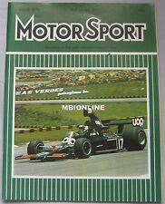 Motor Sport 03/1975 featuring Lotus Elite 503, Triumph Spitfire 1500, Alfa Romeo