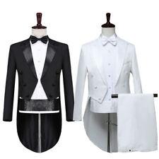 Mens Tuxedo Morning Suit Tailcoat Jacket Trousers Evening Tails Frock Coat Slim