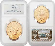USA 1900 LIBERTY $20 Gold NGC MS63