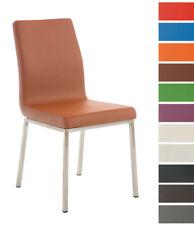 Chaise salle à manger COLMAR similicuir fauteuil design acier cuisine salon neuf