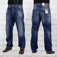 Viazoni Herren Jeanshose Carlos Loose Fit dunkelblau Männer Jeans Hose Mens Pant