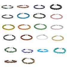 Gemstone Bead Chip w Sterling Silver Clasp Women's Strand Bracelets