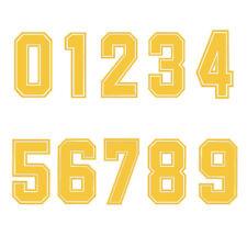 Iron-On Heatpress Yellow Number Football Baseball Sports T-Shirt DIY Part Supply