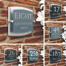 Grey House Number Plaque Door Sign Modern Presonalised Acrylic Plaque