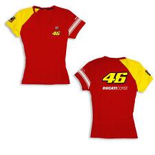 Ducati Corse Ladies Short Sleeve T-Shirt VALENTINO ROSSI D46 Start Lady NEW