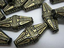 """Or noir acrylique perles large en forme de losange 22mm (7/8"""") fabrication de bijoux perles"""
