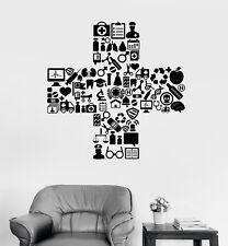 Vinyl Wall Decal Medicine Hospital Symbol Clinic Doctor Nurse Stickers (1967ig)