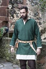 Moyen Âge Tunique Viking - Vert A Partir de Burgschneider