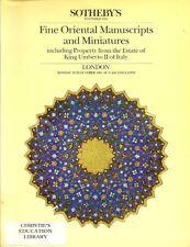 SOTHEBY'S Islamic Mughal Persian Manuscripts Miniatures Quran King Umberto Catal
