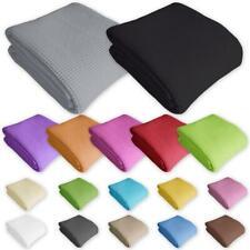 Bettüberwurf Tagesdecke 100% Baumwolle 20 Farben 4 Maßen Überwurf Sofaüberwurf