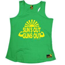 Suns Out Guns Out Gimnasio Culturismo Gracioso Cumpleaños chaleco para mujer jovencita