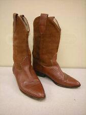 Beautiful Brown Womens VintageBrass Plum Womens Rust Brown Cowboy Boots sz 8